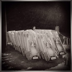 Waiting for action #alpine #sled #amusement #amusementpark #fun #summer (danielle moir photo) Tags: mountain ski abandoned square empty slide alpine squareformat lonely sled skimountain alpineslide alpinesled iphoneography instagramapp uploaded:by=instagram