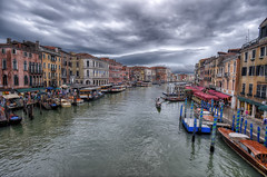 View from the Rialto Bridge after Rainstorm