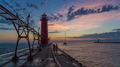 Colorful Night (Explore 9-5-2014) (Mi Bob) Tags: grandhaven
