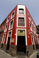 Gran Canaria (.Art_Thierry_Lempereur) Tags: red white house corner island cafe pub gran canaria