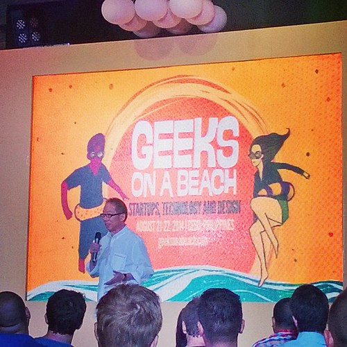"Manny Osmena onstage #GOAB picking on Khailee Ng's shorts(?) & more  ""Start Well and End Well."" #TRUST #Startups #Tech #PlayIsWork #Cebu"