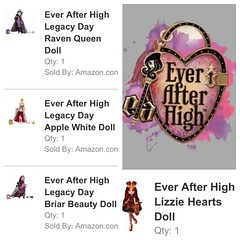 New Purchases!! (Kael Farron) Tags: white apple beauty hearts high doll dolls day lizzie queen after raven ever legacy mattel briar eah