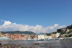 The Bay of Silence (Luca Lusardi) Tags: travel sun holiday nuvole mare silent estate sunny barche case silence sole rocce acqua azzurro montagna viaggio spiaggia vacanze traveler scogli silenzio baiadelsilenzio baia viaggiare