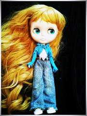 An angel in blue jeans.