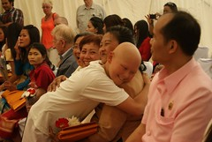 Novice Monk Hair Cutting Ceremony (radioink) Tags: summer hair temple cut ceremony monk thai staffordshire novice 2014 watmahathat kingsbromley พระ วัดไทย งานบวช