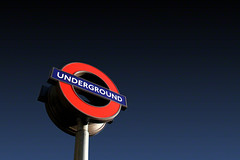 Underground Sign, London, England. (2c..) Tags: uk blue england sky london sign digital dark underground © images getty watermarked 2cengland 2c©