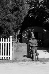 08 30 2014 Day 242 (John Ilko) Tags: blackwhite gate guard knight fujifilm armour xtrans xe2