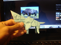 Bison WIP (shuki.kato) Tags: work paper buffalo origami progress wip hills fold bison kami