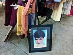 Audrey on Sale (BKHagar *Kim*) Tags: movie audreyhepburn sale picture icon idol moviestar yardsale estatesale bkhagar