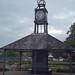 Hall Leys Park - Matlock - shelter with a clock