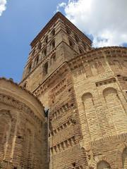 Mudjar tower and apse, Iglesia de San Lorenzo, Sahagn, Spain (Paul McClure DC) Tags: espaa church architecture spain historic mudjar castile castillaylen sahagn june2014