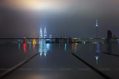 Kuala Lumpur at night, Malaysia (ANUJAK JAIMOOK) Tags: tower night cityscape petronas twin malaysia kuala kl lumpur