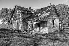 Ozark House (joeqc) Tags: house abandoned home was cabin mo forgotten missouri porch once dilapidated ozark greytones