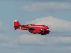 DH88 Comet - Old Warden (davepickettphotographer) Tags: park uk house vintage aircraft aviation air bedfordshire olympus historic collection airshow trust gb racer dehavilland grosvenor biggleswade em1 shuttleworthcollection olympuscamera dh88