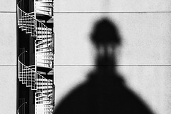 Shadow on the wall (unukorno) Tags: shadow stairs staircase windingstairs tower blackwhite contrast abstrakt sassnitz rgen
