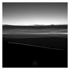 Contour Line (picturedevon.co.uk) Tags: dartmoor devon unitedkingdom fineartphotography night lighttrails countryside monochrome minimalist blackandwhite longexposure landscape sky clouds dawn dark morning