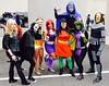 DSC_0420 (Randsom) Tags: nycc 2016 newyorkcomiccon nycomiccon javitscenter october nyc newyorkcity cosplay costume fun comicbooks comicconvention dccomics batmanfamily groupshot group team people teentitans titans youngjustice teen heroine superheroine contacts terra starfire robin mask wig deathstroke raven beast boy girl cape colorful