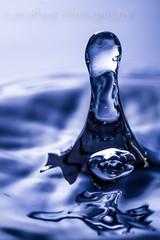 Big Drop (Lazy Pixel) Tags: blue waterdrop splashing water