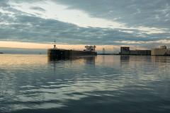 16-7408 (George Hamlin) Tags: minnesota duluth ship boat american integrity laker self unloader predawn sky clouds water harbor port reflection photo decor george hamlin photography