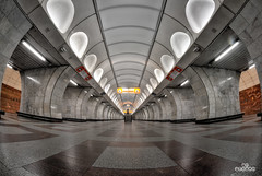 Lonely in Prague Metro (brenac photography) Tags: brenac cz czech d810 france nikond810 tcheque brenacphotography nikon prague praha wow czechrepublic cze metro train station empty urban urbex travel mestro fisheye zenitar hdr oloneo europe