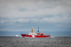 Coast Guard (David Cantatore) Tags: canada canadian iceberg rcn atlantic boat clouds coastguard ice navy newfoundland ocean ship sky water nikon d600 300mm