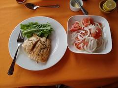 Salmon & Salad (Ctuna8162) Tags: chile food antofagasta good fish salmon