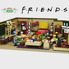 "Moc lego ""Central perk"" of ""Friends"" (Central perk lego ideas) Tags: centralperk friends bar coffee serie ross monica chandler legomoc legoideas lego moc minifigure minifigurine supporting"