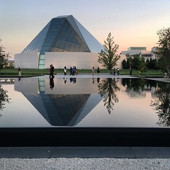 Sunset at the Aga Khan Museum (f_majeed) Tags: museum park sunset toronto aga khan refelections