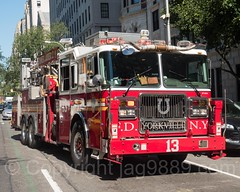 FDNY Tower Ladder 13, Upper East Side, New York City (jag9889) Tags: jag9889 usa ladder uppereastside manhattan newyorkcity newyork 20160922 2016 fifthavenue outdoor fdny 5thavenue apparatus bravest firedepartment firedepartmentofthecityofnewyork firefighter firstresponder hook laddertruck ny nyc newyorkcityfiredepartment newyorksbravest truck ues unitedstates unitedstatesofamerica vehicle us