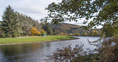 Bend in the Spey (judmac1) Tags: river spey speyside hut autumn