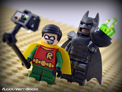 Selfie For Superman (WattyBricks) Tags: lego dc comics superheroes batman robin superman dick grayson bruce wayne clark kent kryptonite selfie