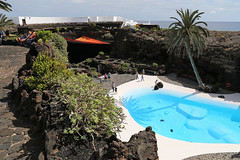 Jameos del Agua Lanzarote (bcmng) Tags: jamesdelagua lanzarote cesarmanrique cactlanzarote vulcano islascanarias canaries kanarischeinseln lanzarotearchitecture lanzaroteart pool dream dreambeach landscape spanishlandscape espana palmtree cueva cave hhle lava vulkan flintstone bar lavabar lavaconcerthall arquitectura blue lanzarotetourism arquitecturaespana lampdesign bardesign grancanaria tenerife