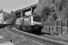 43031 & 43010, Teignmouth 05/05/2016 (CF Rail Photography) Tags: 43031 43010 highspeedtrain hst intercity125 fgw firstgreatwestern diesel 1a82 paignton londonpaddington teignmouth 05052016 southdevon seawall railway eastcliffwalk class43