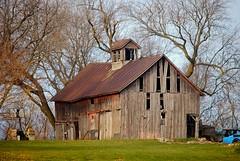 Barn in Jefferson Junction, Wisconsin (Cragin Spring) Tags: wisconsin wi midwest unitedstates usa unitedstatesofamerica jefferson jeffersonwisconsin jeffersonwi barn decay building farm jeffersonjunction