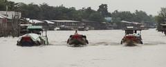Side by side by side (program monkey) Tags: vietnam mekong river delta cargo boat ben tre tra vinh watercourse riverside water