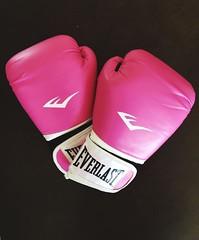 Pink Boxing Gloves (littlebutfierce07) Tags: white sports dark background boxinggloves boxing gloves everlast hotpink pink