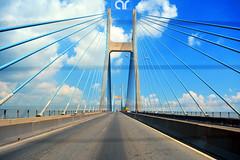 Phu My Bridge, Ho Chi Minh (AR's Photography) Tags: phumybridge saigon hochiminh vietnam bridge architect construction sky clouds cablestayedbridge road river travel