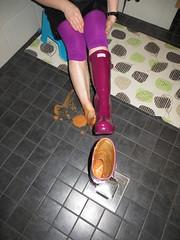 Messy Hunters (jazka74) Tags: wellies rubber boots hunter original gloss messy fun