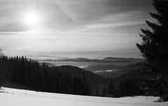 Beskydy #4 (Radim Seibert) Tags: bw blackandwhite black white fujifilm x t10 fujinon xf 1855 winter snow sun sunstar mountains landscape