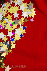 Colorful stars on red velvet background (PicciaNeri) Tags: glow festivities glitter starshape xmas christmas starnight seasonal festive celebration text goldstars copyspace golden dreams goldenstars holiday goldenstar celebrate sparkle confettistars birthday december present goldenconfetti color winter gift background motif party border gold confetti star black goldconfetti goldstar holidaycard blue colorful greetings blank message ornate metallic decoration closeup card nobody decorative happy aspirations