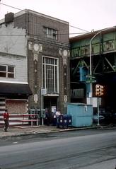 SEPTA El Station Girard and Front 8-21-90 (jsmatlak) Tags: philadelphia septa train tram trolley streetcar electric railway