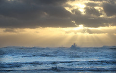 Angry Surf (Team Hymas) Tags: pacificocean capedisappointment washington angry sunset rays