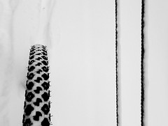 2016 Bike180 - Day 35 (steve.suomi) Tags: bike180 2016bike180 snow bicycle tyre tracks finland autumn