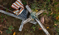 Crosses (pinconnected) Tags: cemetery nativeamerican crosses americanflag fujifilm xpro1 fujixf1855mm pinconnected tribe neahbay makahtribe washington