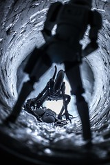"""Next One"" (sir_winger) Tags: starwars hasbro blackseries stormtrooper trooper alien xenomorph revoltech kaiyodo tunnel sirwinger"