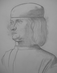 Gentile Bellini Drawing (JeremiahGC) Tags: gentile bellini drawing oldmaster man youth pencildrawing