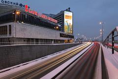 Pirogovskaya Embankment, Saint-Petersburg (Mistah_Grape) Tags: питер санктпетербург road architecture trails longexposure cityscape nikon snow october russia saintpetersburg embankment pirogovskaya