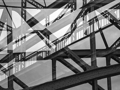 Expired Film Only (Meergraf) Tags: expired film analog vienna wien sterreich europe avaliable light natrliches licht silhouette grain maximilian meergraf dream or reality magic schatten dblinger steg brcke bridge doex double exposure mamiya super 645 kodak tmax mono einfrbig architektur infra structure canoscan