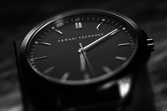 Style might be trendy; Class is timeless. (luthfulplabon) Tags: watch productphotography studio dark light lightinthedark blackandwhite black luthfulplabon luthfulplabonphotography armaniexchange armaniexchangewatch lifestyle style trendy monochrome timepiece dial clock