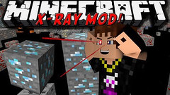 XRay Mod (Cave Finder, Fly, Fullbright) 1.10.2/1.7.10 (KimNanNan) Tags: minecraft 3d game online video games